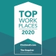Cornerstone Wins Top Workplace 2020